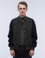 Kolor Textured Wool Varsity Jacket