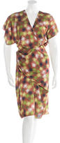 Costello Tagliapietra Abstract Print Draped Dress