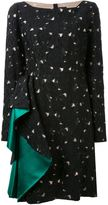 Lanvin flower jacquard dress