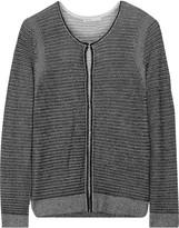 Maje Metallic plated-knit cardigan