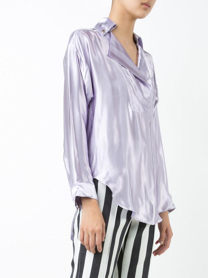 Nina Ricci notched lapel blouse