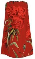 Dolce & Gabbana Sleeveless Carnation Shift Dress