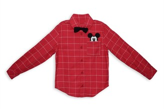 Disney Mickey Mouse Holiday Woven Shirt for Kids