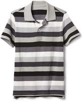 Gap Short sleeve crazy stripe pique polo
