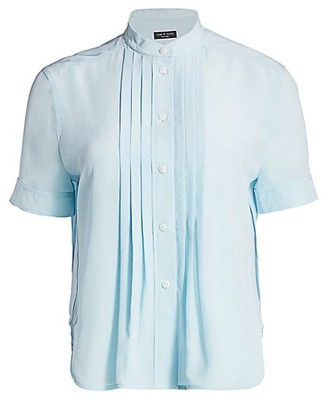 Rag & Bone Sarah Silk Pleated Shirt