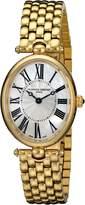Frederique Constant Women's FC200MPW2V5B Art Deco Analog Display Swiss Quartz Gold Watch