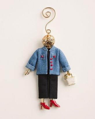 Chico's Denim Jacket Lady Doll Ornament