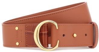 Chloé C leather belt
