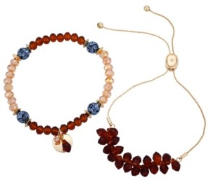 Nanette Lepore Slider And Stretch Set of 2 Bracelets
