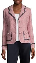 St. John Village Tweed Trimmed Jacket