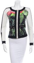 Roberto Cavalli Collarless Graphic Jacket w/ Tags