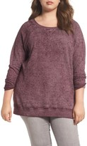 Caslon Plus Size Women's Burnout Sweatshirt
