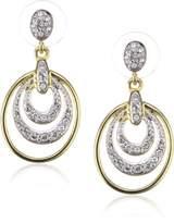 Jean Pierre Heje15131Pe Brass Swarovski Crystal Earrings