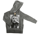 Little Eleven Paris Charcoal Kate Moss Pullover Hoody