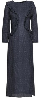 Paper London Ruffled Polka-dot Crepe Midi Dress