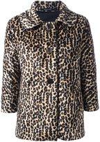 Tagliatore faux fur leopard print jacket