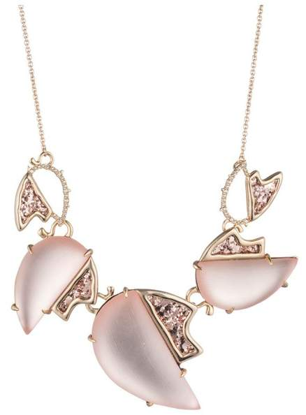 Alexis Bittar Abstract Tulip Glitter Large Bib Necklace