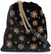 Alberta Ferretti embellished velvet bag