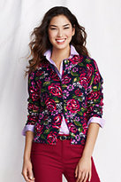 Classic Women's Tall Supima Cardigan Sweater-Pale Lilac Floral