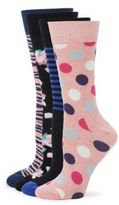 Happy Socks Four-Pack Printed Crew Socks