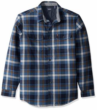 Izod Men's Big Adirondack Quilted Plaid Jacket