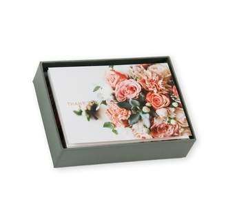 Pierre Belvedere THANK YOU CARDS AQUA FLOWERS