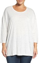 Sejour Plus Size Women's Speckled Tee