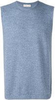 Etro sleeveless crew neck sweater - men - Wool - L