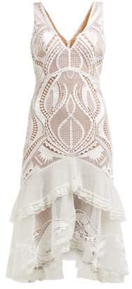 Jonathan Simkhai Guipure Applique V-neck Dress - Womens - White