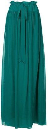 Lanvin Long Tie-Waist Skirt