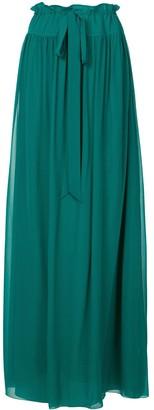 Lanvin Long Tie-Waist Skirt