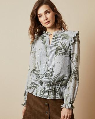 Ted Baker TIBBINE Highland frill blouse