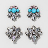 BaubleBar SUGARFIX by Crystal Stud Earring Set of Two - Turquoise