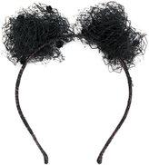 Maison Michel mesh pom pom hairband