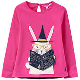 Joules Little Joule Girls' Rabbit Applique T-Shirt, Pink