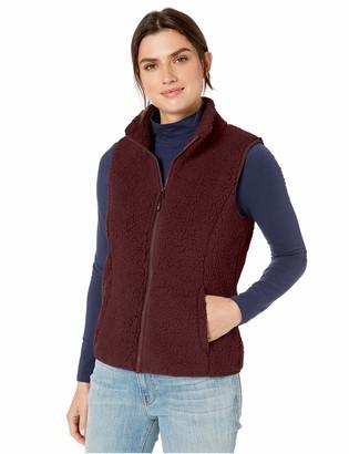 Amazon Essentials Polar Fleece Lined Sherpa Vest Burgundy S