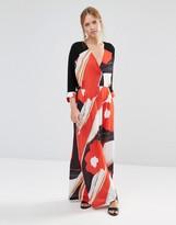 Liquorish Wrap Front Maxi Dress