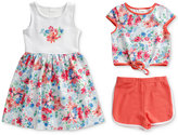 Sweet Heart Rose 3-Pc. Dress, Top & Shorts Set, Little Girls (2-6X)