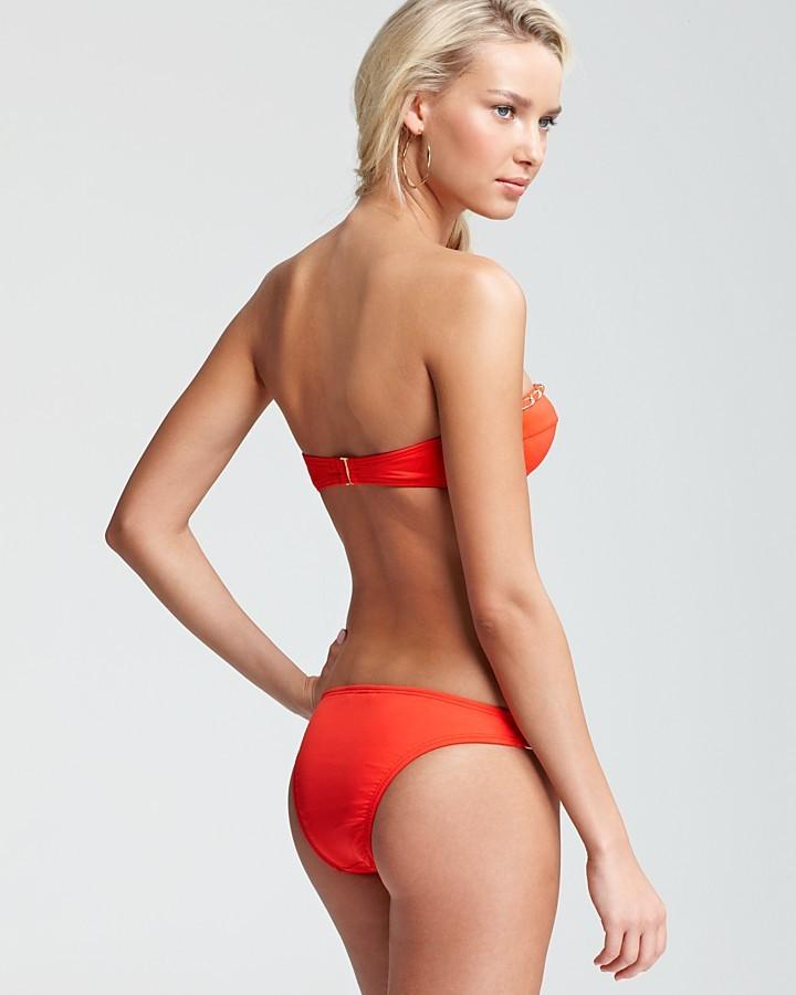 Juicy Couture Gold Link Classic Bandeau Bikini Top