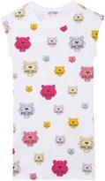 Kenzo Colourful Tiger Dress (Toddler/Kid) - White - 5A