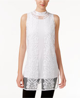 Alfani Lace Mock-Neck Top, Only at Macy's