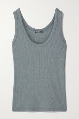 James Perse Ribbed Cotton-blend Jersey Tank - Blue