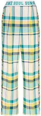 Mira Mikati Sunshine Soul check trousers