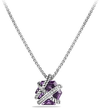 David Yurman Cable Wrap Necklace with Gemstone & Diamonds