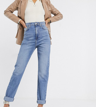 New Look Tall straight leg jean in mid blue