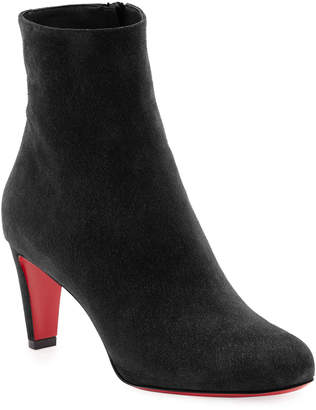 Christian Louboutin Top 70mm Suede Red Sole Bootie