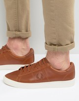 Fred Perry Spencer Waxed Leather Sneakers