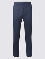 Limited Edition Slim Fit Pure Cotton Trousers with Stretch