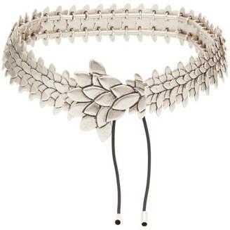 Isabel Marant Plume Antiqued-metal Belt - Silver