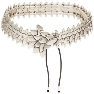 Isabel Marant Plume Antiqued-metal Belt - Womens - Silver